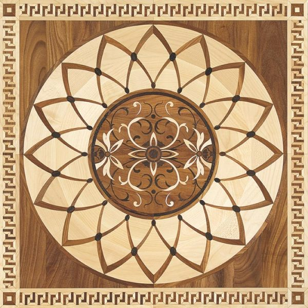 Garbelotto NATURAL ENGINEERED WOOD FLOORS TILES Solid wood LASER Decorations Mod REGINA MARIA