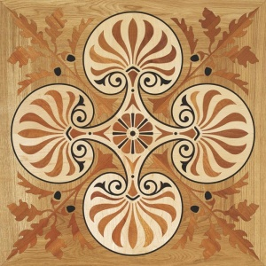 Garbelotto NATURAL ENGINEERED WOOD FLOORS TILES Solid wood LASER Decorations Mod REGINA ELISABETTA