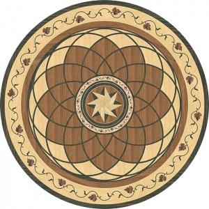 Garbelotto NATURAL ENGINEERED WOOD FLOORS TILES Solid wood LASER Decorations Mod REGINA MARGHERITA