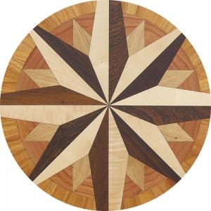 Garbelotto NATURAL ENGINEERED WOOD FLOORS TILES Solid wood LASER Decorations Mod REGINA CATERINA