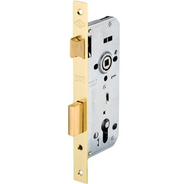 KALE DOOR LOCK MORTISE LOCK WITH CYLINDER (WIDE TYPE)FOR WOODEN DOORS WITH BALL BEARING THREE THROWS