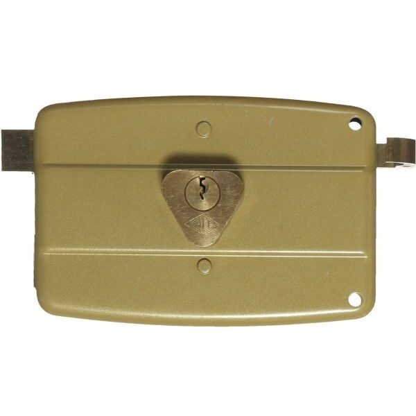 KALE DOOR LOCK SURFACE MOUNT RIM LOCK NO 14 FOR WOODEN AND METAL DOORS WITH FIXED OR LOOSE STANDARD CYLINDER