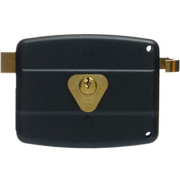 KALE DOOR LOCK SURFACE MOUNT RIM LOCK NO 12 FOR WOODEN AND METAL DOORS  WITH FIXED OR LOOSE STANDARD CYLINDER