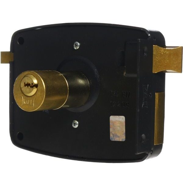 KALE DOOR LOCK SURFACE MOUNT RIM LOCK NO 12 FOR WOODEN AND METAL DOORS WITH FIXED SYSTEM CYLINDER