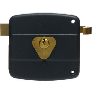 KALE DOOR LOCK SURFACE MOUNT RIM LOCK NO 10 FOR WOODEN AND METAL DOORS WITH FIXED OR LOOSE STANDARD CYLINDER