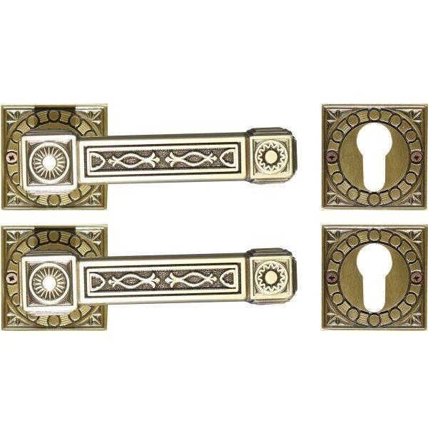 Ghidini Door Handles Cylinder Rosette Bronze ia08-01