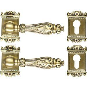 Ghidini Door Handles Cylinder Rosette Bronze ia10-01