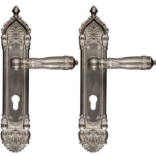 Ghidini Door Handles Cylinder Silver Antique ia24-03