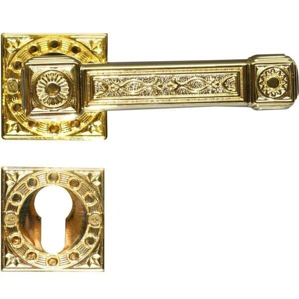 Ghidini Door Handles Cylinder Rosette Gold ia08-01