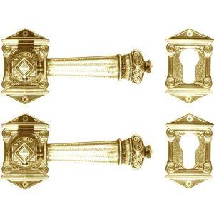 Ghidini Door Handles Cylinder Rosette Bronze ia05-01