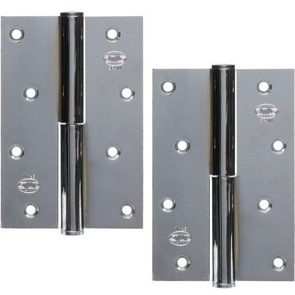 AMIG door Hinge silver 4 inches 100 X 70 Mm Left  6307