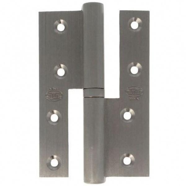 AMIG door Hinge silver brass 120 X 80 X 4 Mm Right 17449