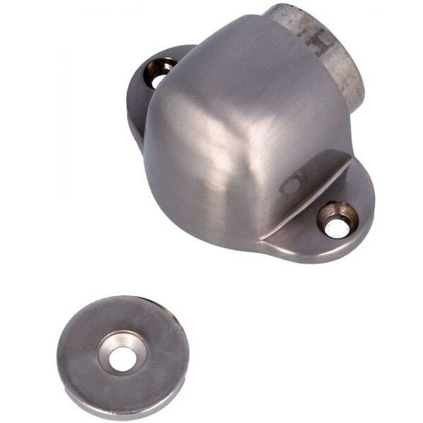 AMIG Doorstop silver magnetic oval 8384