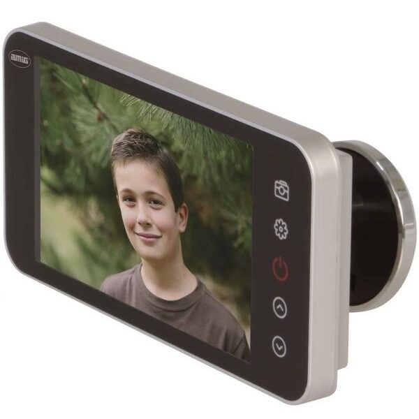 AMIG Digital door viewer LCD full HD silver 21377