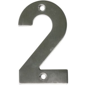 AMIG door numbers Stainless Steel Number 2 6770