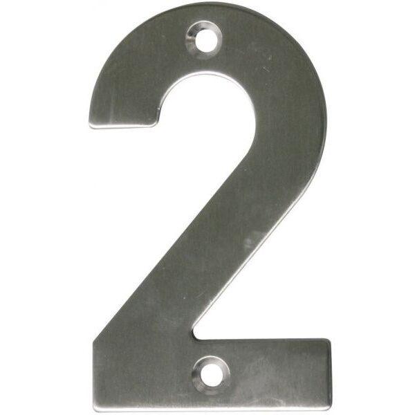 AMIG door numbers Stainless Steel Number 2 6770
