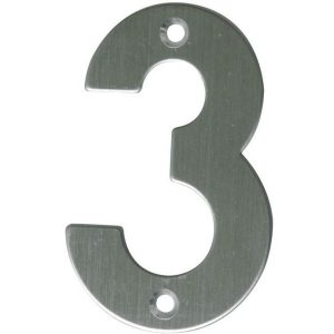 AMIG door numbers Stainless Steel Number 3 6771