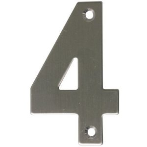 AMIG door numbers Stainless Steel Number 4 6772