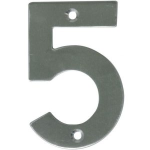 AMIG door numbers Stainless Steel Number 5 6773
