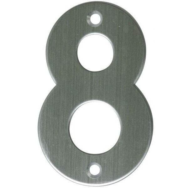 AMIG door numbers Stainless Steel Number 8 6776