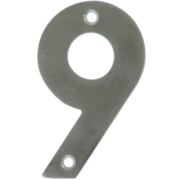 AMIG door numbers Stainless Steel Number 9 6777