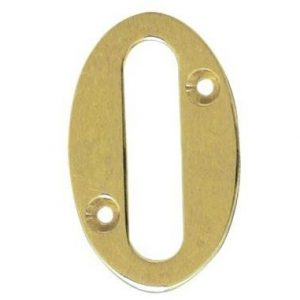 AMIG door numbers Solid Brass Number 0 7180