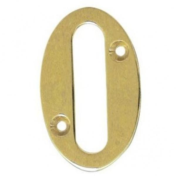 AMIG door numbers Solid Brass Number 0 7180