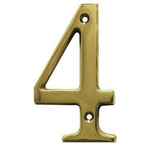 AMIG door numbers Solid Brass Number 4 7184