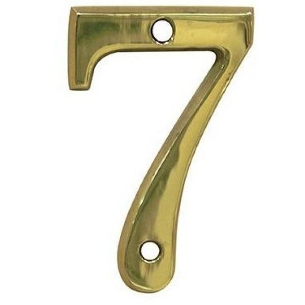 AMIG door numbers Solid Brass Number 7 7187