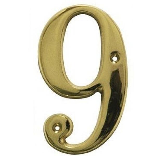 AMIG door numbers Solid Brass Number 9 7189