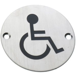 AMIG Stainless Steel Symbol Plate Handicaps Sign 6753