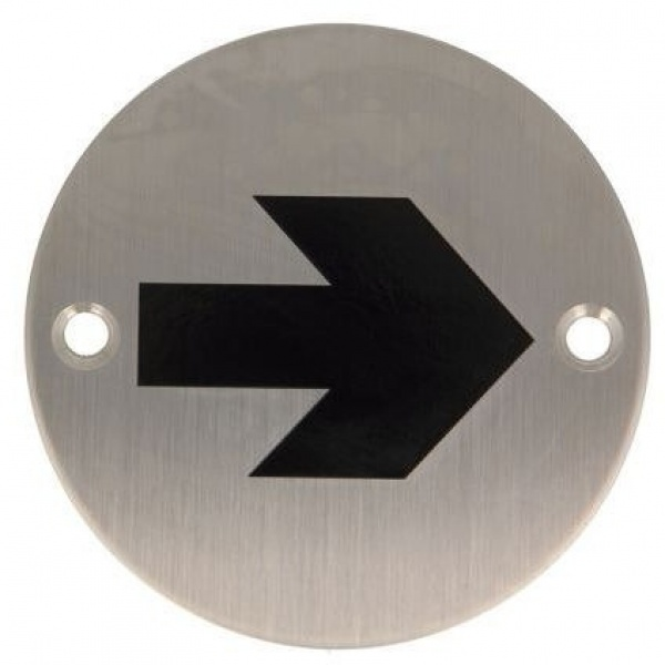 AMIG Stainless Steel Symbol Plate Direction Sign 6759