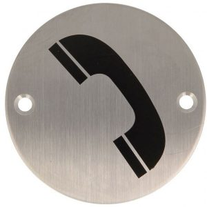 AMIG Stainless Steel Symbol Plate Phone Sign 6760