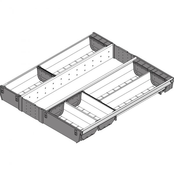 BLUM ORGA-LINE container set for TANDEMBOX drawer 900 mm
