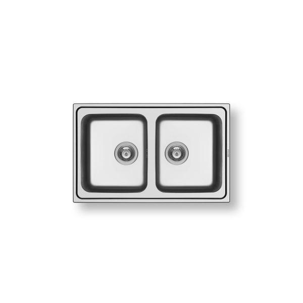Pyramis Sink Stainless Steel 2Bowl
