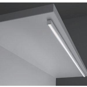 L&S Led LIGHT Alluminium profile opal cover for SURFACE MOUNTED