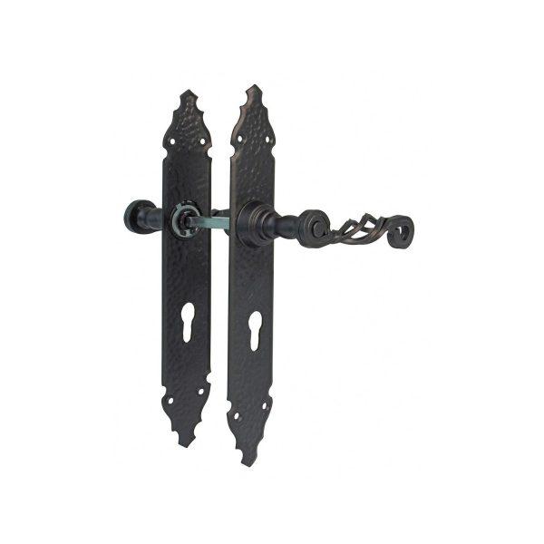 AMIG Door Handles Cylinder Rosette Fairforge long Side