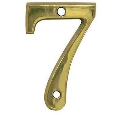 AMIG door numbers Gold Number 7 2676