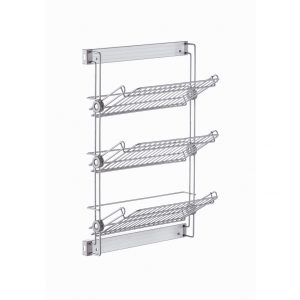 Elite side pull-out shoe rack with 3 tiers right black 500 mm