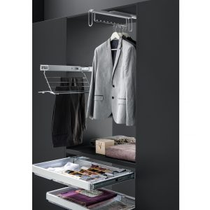 Prestige pull-out clothes hanger silver 500 mm