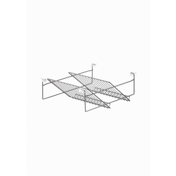 Wire basket for shoe rack 2 tiers 400 mm